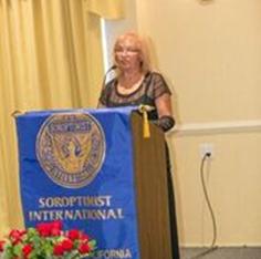 2015 Annual Charity Ball:  President Frannie Donoghue